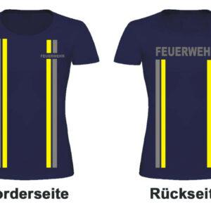 Feuerwehr Damen T-Shirt im Einsatzlook