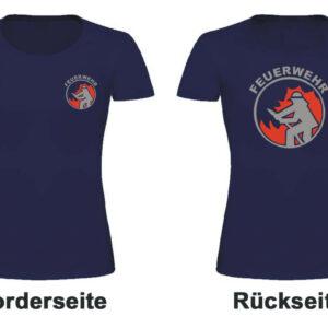 Feuerwehr Damen T-Shirt mit Motiv Firefighter I