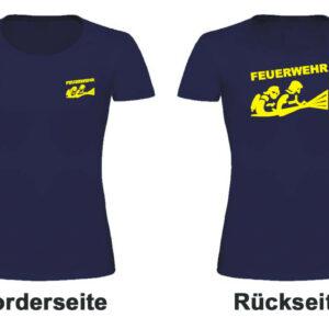 Feuerwehr Damen T-Shirt mit Motiv Firefighter III