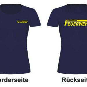 Feuerwehr Damen T-Shirt Freiwillige Feuerwehr Modell Logoame