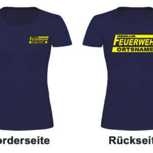 Feuerwehr Damen T-Shirt Logo mit Ortsnamen