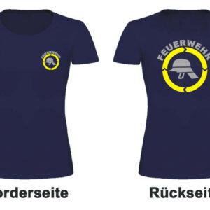 Feuerwehr Damen T-Shitrt Modell Helm