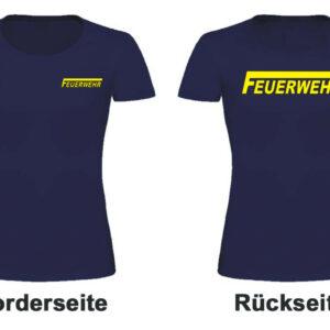 Feuerwehr Damen T-Shirt Modell Logo