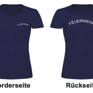 Feuerwehr Damen T-Shirt Rundlogo