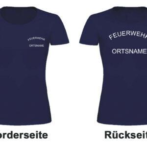 Feuerwehr Damen T-Shirt mit Rundlogo und Ortsnamen