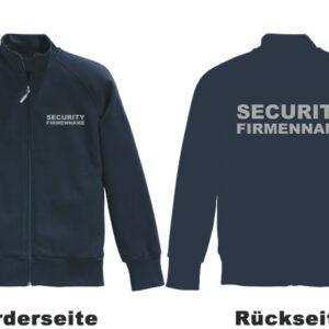 Sicherheitsdienst Sweatjacke Modell Basis mit Musterstadt