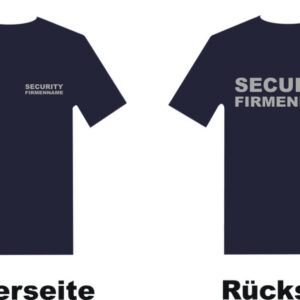 Sicherheitsdienst T-Shirt Modell Basis mit Musterstadt