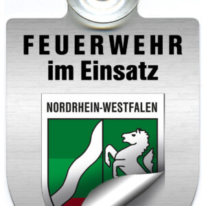 """KFZ Alu-Schild """"Feuerwehr im Einsatz"""""""