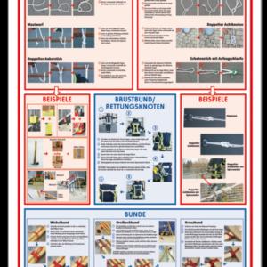 Poster Knoten Stiche