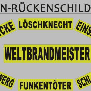 Fun-Rückenschild Uni, gelb matt-0