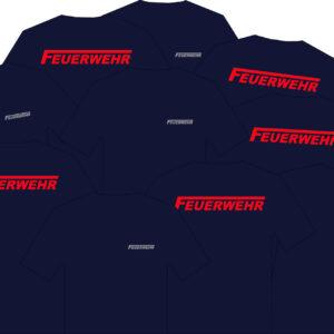 10'er Set Feuerwehr T-Shirt Logo