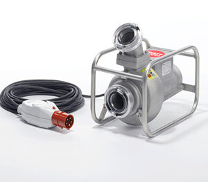 Abwassertauchpumpe ATP 10 R 400 V im Rohrahmen