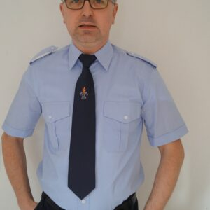 Feuerwehr Diensthemd hellblau 1/2 Arm kurzarm