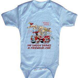 Baby-Body FIREWEHR-CAR! (blau)-0