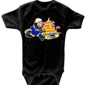 Baby-Body mutiger Feuerwehrmann (schwarz)-0