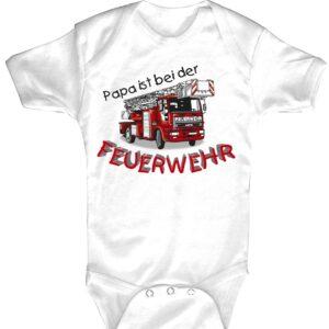 Baby-Body Papa ist bei der Feuerwehr! (weiß)-0