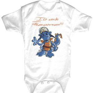 Baby-Body Feuerwehrdrache (weiß)-0