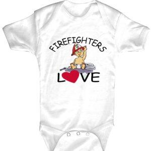 Baby-Body Firefighters Love (weiß)-0