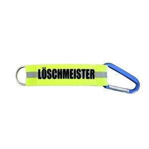 Schlüsselanhänger Karabiner Feuerwehr im EL Löschmeister-0