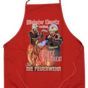 Grillschürze Feuerwehreinsatz (rot)-0