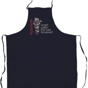Grillschürze Firefighter (navyblau)-0