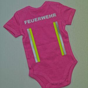 Baby-Body kurzarm oder langarm im Einsatzlook neongelb/silber -0