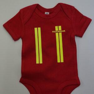 Baby-Body kurzarm oder langarm im Einsatzlook neongelb-0