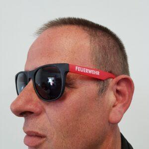 Stylische Sonnenbrille Feuerwehr Design