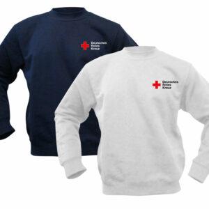 Sweatshirt weiß oder blau mit DRK Kompaktlogo gestickt