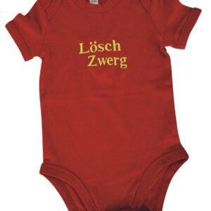 Bestickter Baby-Body kurzarm oder langarm Löschzwerg-0