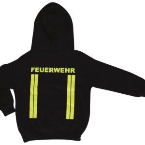 Kinderfeuerwehr Premium Kapuzen-Sweatshirt im Einsatzlook gelb-0