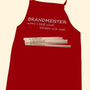 BRANDMEISTER Grillschürze mit Taschenfach & Grillzange -0