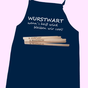 WURSTWART Grillschürze mit Taschenfach & Grillzange -0